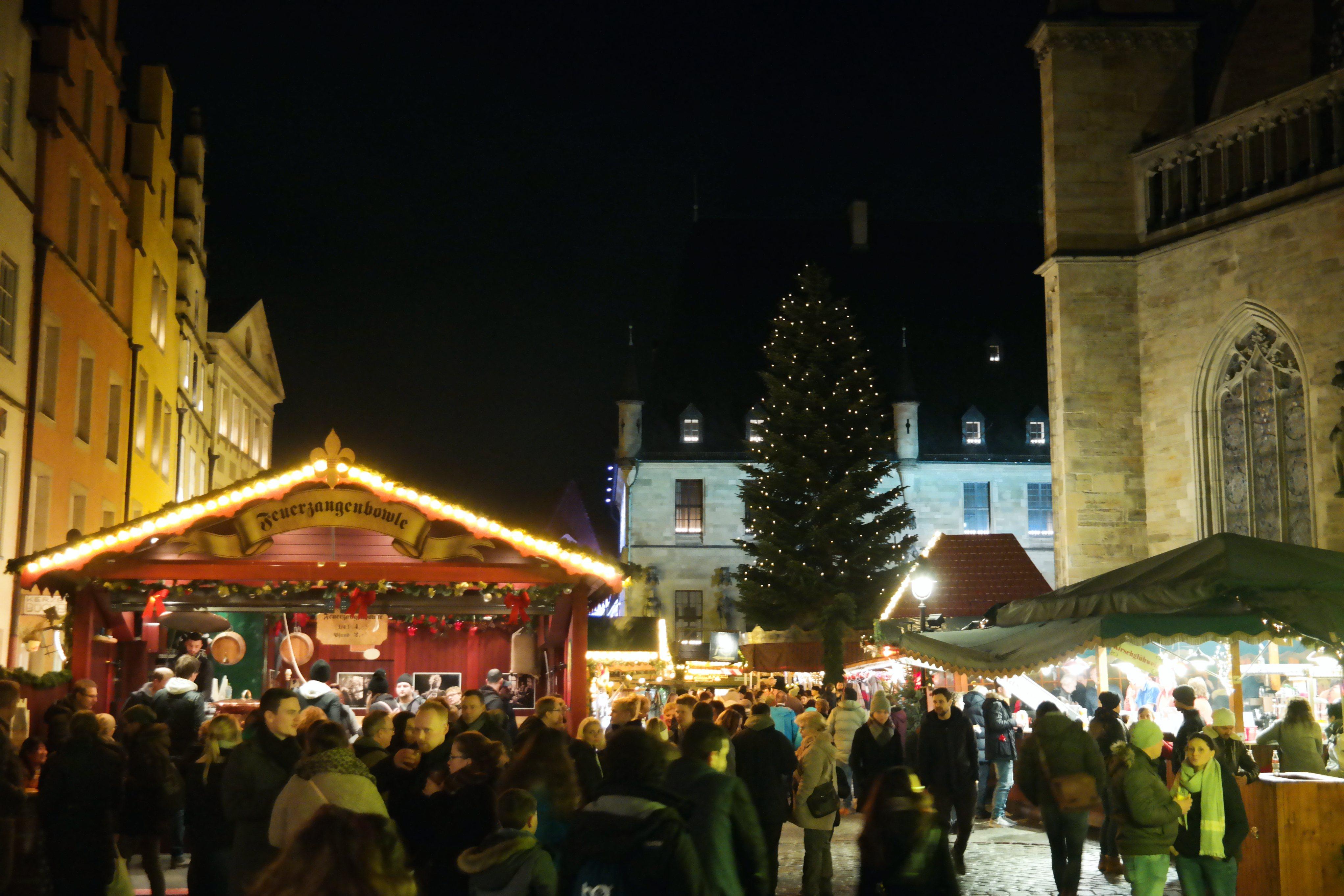 Weihnachtsmarkt Osnabrück.Historischer Weihnachtsmarkt Osnabrück